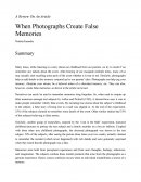 A Review on an Article - When Photographs Create False Memories