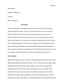 Business Plan Writers Needed Essay Preview Edward Scissorhands  Movie Review Business Plan Writer Dubai also Healthy Foods Essay Edward Scissorhands  Movie Review  Bookmovie Report College Papers For Sale
