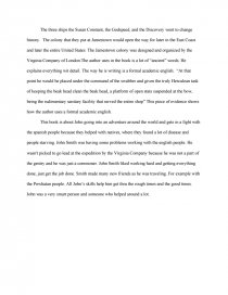 Love And Hate In Jamestown  Essay Essay Preview Love And Hate In Jamestown