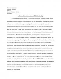 Persuasive Essay Thesis Examples Essay Preview Conflicts And Flawed Assumptions In Mistaken Identity English Argument Essay Topics also Personal Narrative Essay Examples High School Conflicts And Flawed Assumptions In Mistaken Identity  Essay High School Reflective Essay
