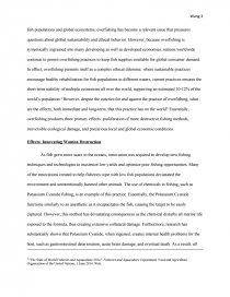 How To Write A Thesis Essay Zoom Zoom Zoom Zoom  Sample Of An Essay Paper also Compare And Contrast High School And College Essay Like Shooting Fish In A Barrel The Ethical Dilemma Of Overfishing  Locavores Synthesis Essay