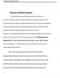 How To Write A Essay For Scholarship Essay Preview Themes Of Moll Flanders Zoom Zoom  How To Essay Examples For Kids also Starting A Narrative Essay Themes Of Moll Flanders  Research Paper The Effects Of Divorce On Children Essay