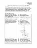 Orgo Lab Report 1 - Unknown Solids and Liquid