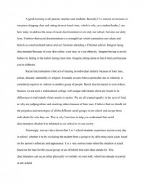 Racial discrimination essay for Frederick douglass learning to read and write essay