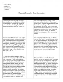 great expectations dialectical journal essay zoom