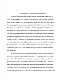 the progressive era best muckraker award essay zoom zoom
