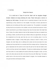 Sample Narrative Essay High School Essay Preview Miracles From Heaven Reaction Paper Sample Of Research Essay Paper also Sample Of An Essay Paper Miracles From Heaven Reaction Paper  Bookmovie Report Example Of Essay Writing In English