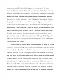 technology and family essay