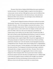Hear america singing walt whitman essays taj mahal research paper