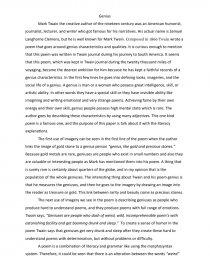 geniusby mark twain essay analysis   essay essay preview geniusby mark twain essay analysis