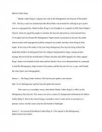 Martin Luther King  Montgomery Bus Boycott  Essay Zoom Zoom