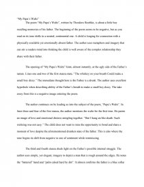 Essay on the poem my papa39s waltz professional resume editor service online