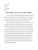 Social Media, Fun but Is Too Much Healthy?