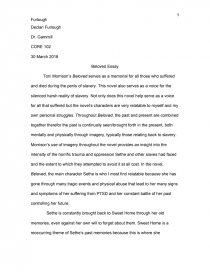 Argumentative Essay Format Sample  Narrative Essay Topics For College also Essay Fahrenheit 451 Essay Beloved Essay Topics Term Paper Sample With Beloved  Academic Background Essay